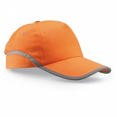 Baseballová čepice s reflexním pruhem ORANŽOVÁ