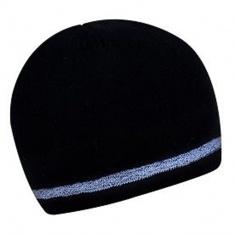 Zimní dvouvrstvá čepice s reflexním okrajem ČERNÁ